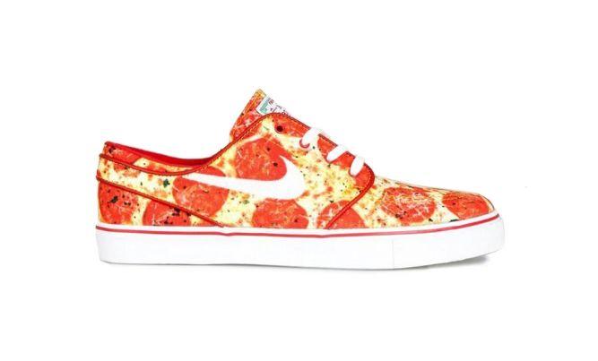 Pizza-Printed Sneakers