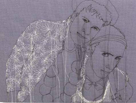 Pensive Needlepoint Portraits