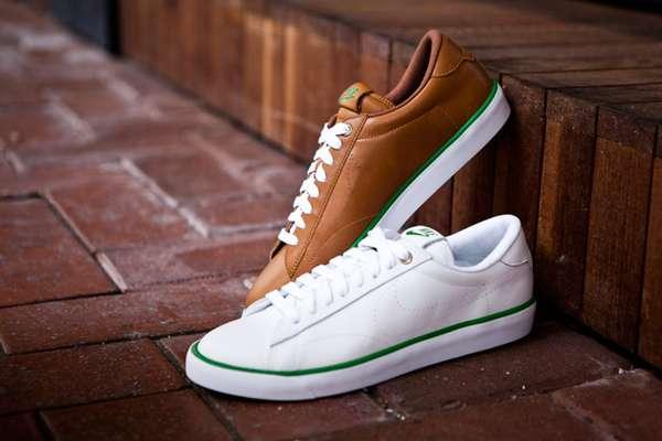 Stylishly Perforated Leather Kicks