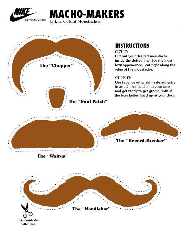 Cut-Out Mustaches