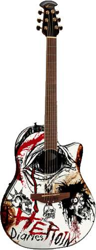 """The Heroin Diaries"" Guitar"