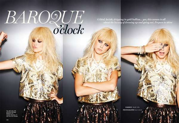 Baroque Rocker-Chic Photoshoots