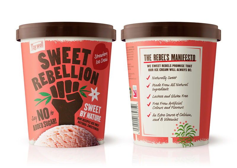 Defiant Ice Cream Branding
