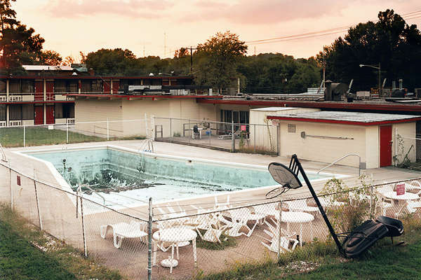 Abandoned Motel Pool Photography