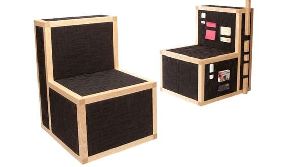 Weaved Fabric Storage Seats