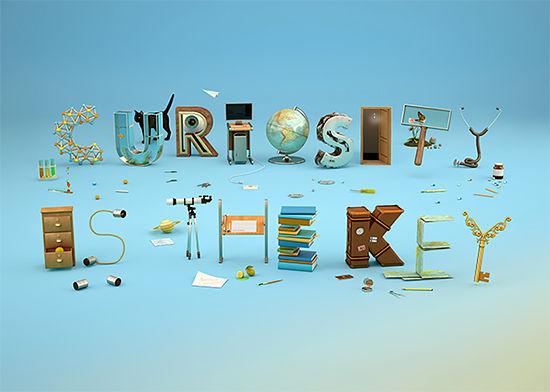 Curiosity-Encouraging Typography