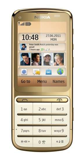 Nokia C3-01 Gold Edition
