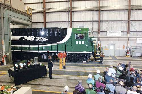 One Of A Kind Green Rails Norfolk Southern Railway