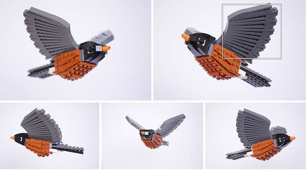 Feathery LEGO Sculptures
