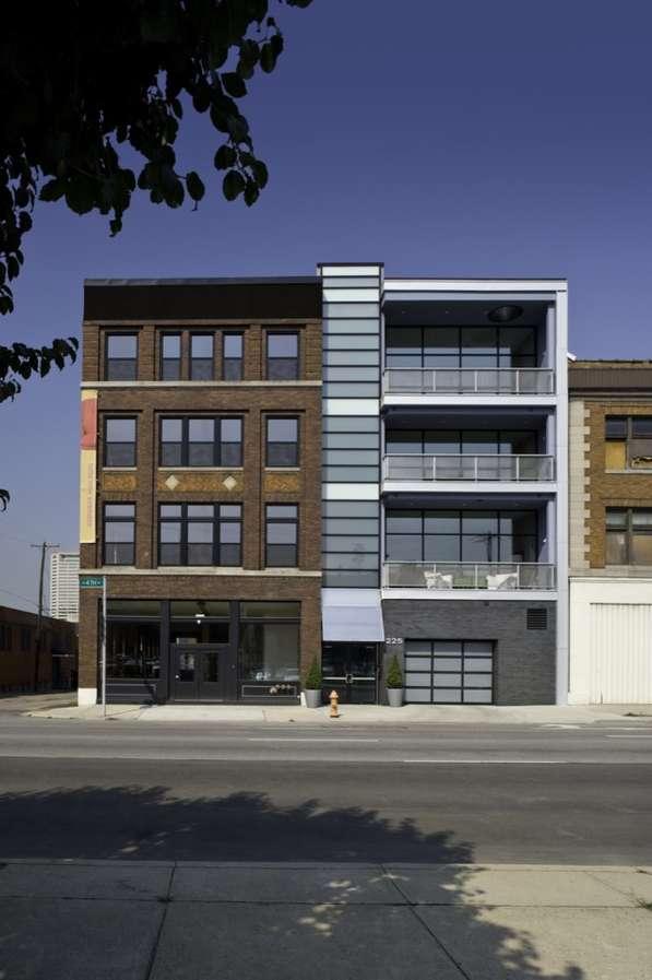 Contrasting Architectural Facades