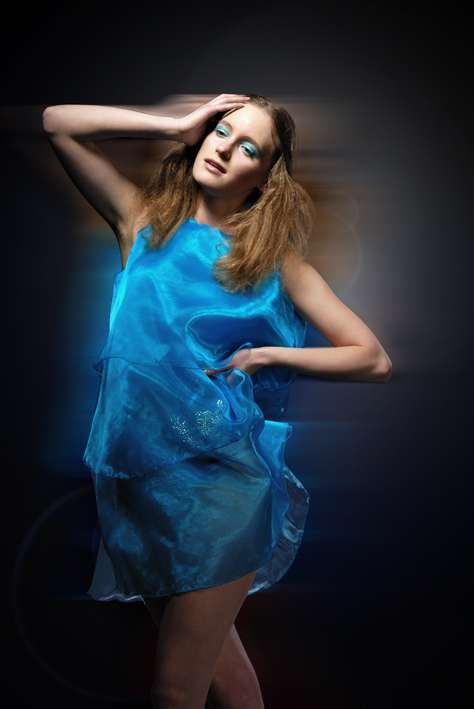 Glowing Sea Blue Frocks
