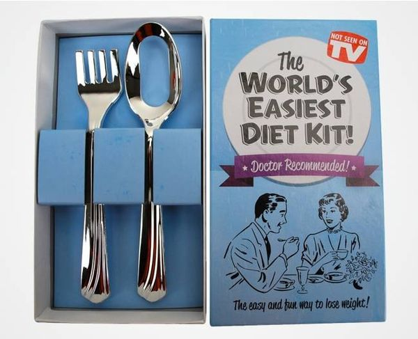 Self-Restraining Dietary Cutlery