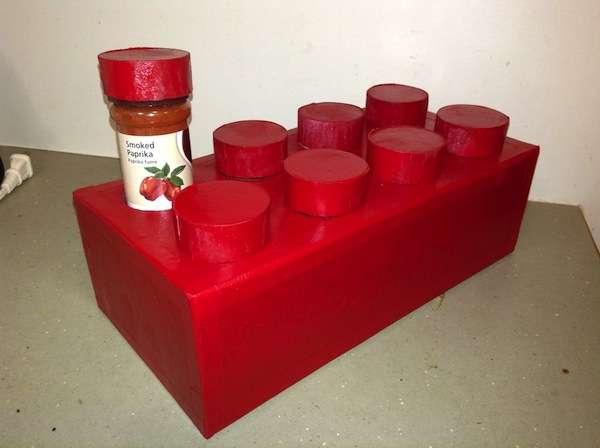 DIY Toy Block Spice Racks