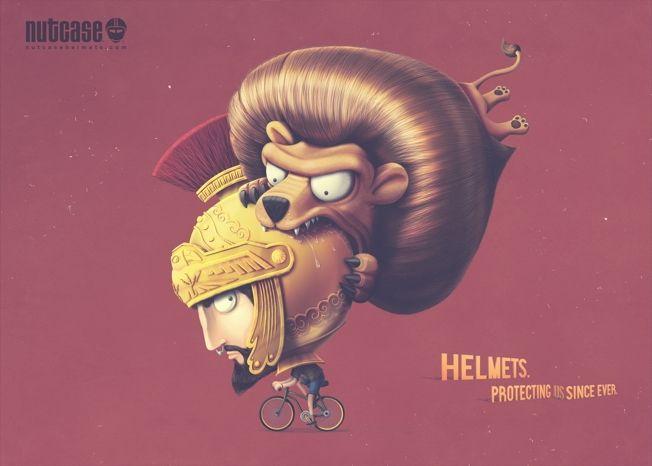 Fantastical Helmet Ads