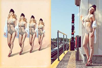 Vintage Cut-Out Swimsuits
