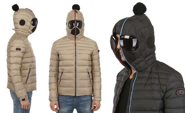 Bug-Eyed Winter Jackets : nylon hooded down jacket