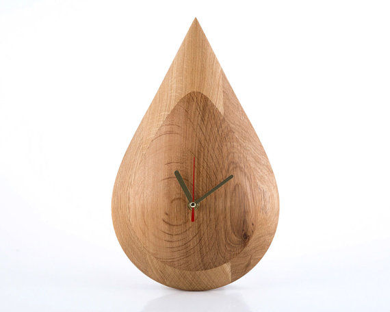 Tear-Shaped Timekeeper Decor