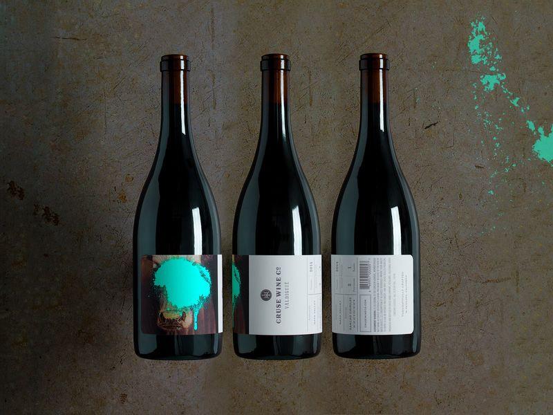 Paint-Splattered Wine Branding