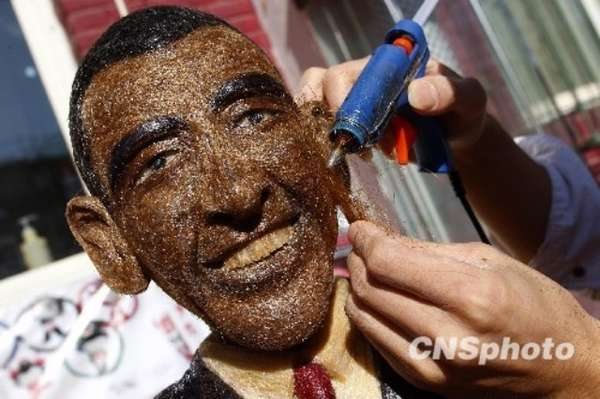 Obama Hair Sculptures