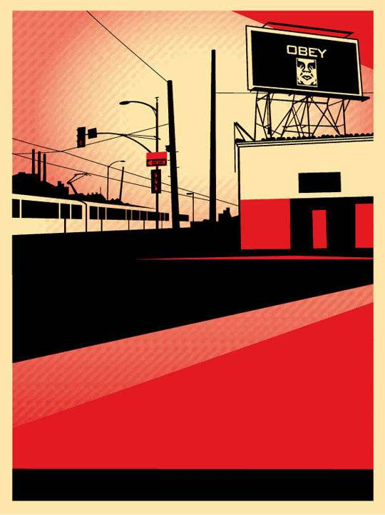 Obey SD Billboard Print