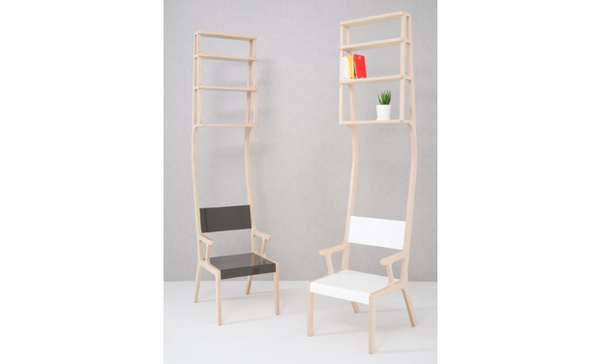 Shelf-Topped Chairs