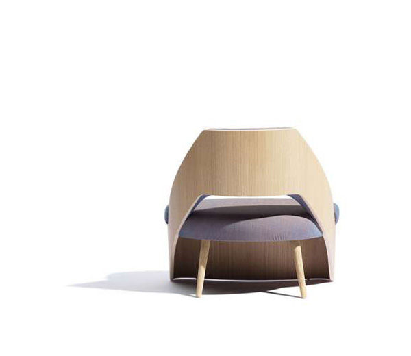 Modern Wood-Wrapped Seating