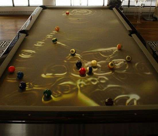 Peculiar Pool Tables: Obscura Cuelight Billiards Table