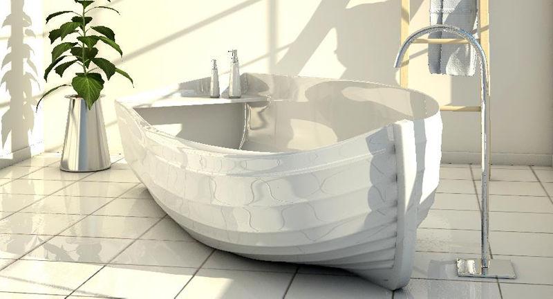 Canoe-Shaped Bathtubs