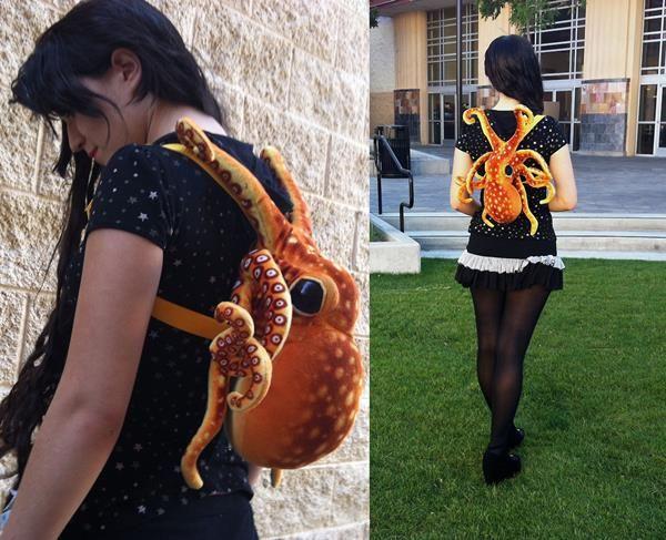 Plush Octopus Backpacks
