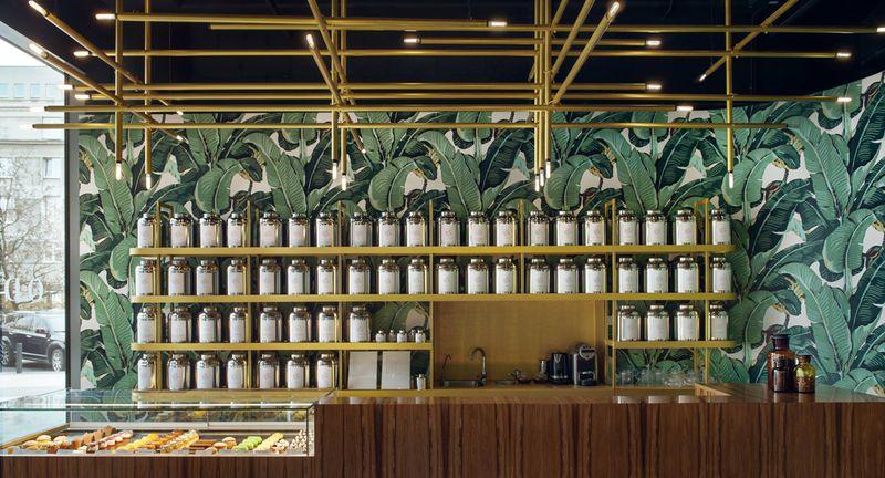 Tropical Tea Bar Interiors