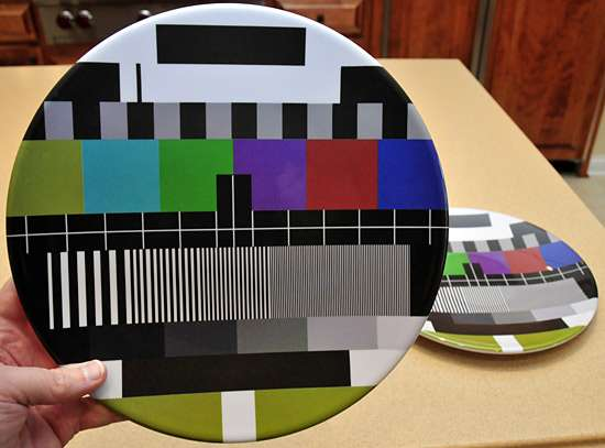 TV Test Dinnerware