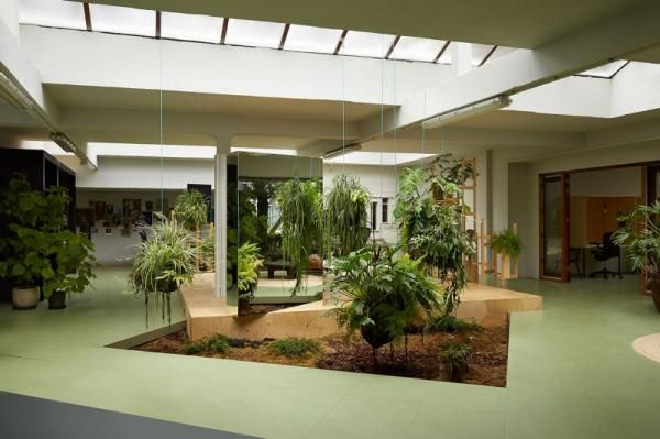 Environmental office spaces office design for Garden office designs