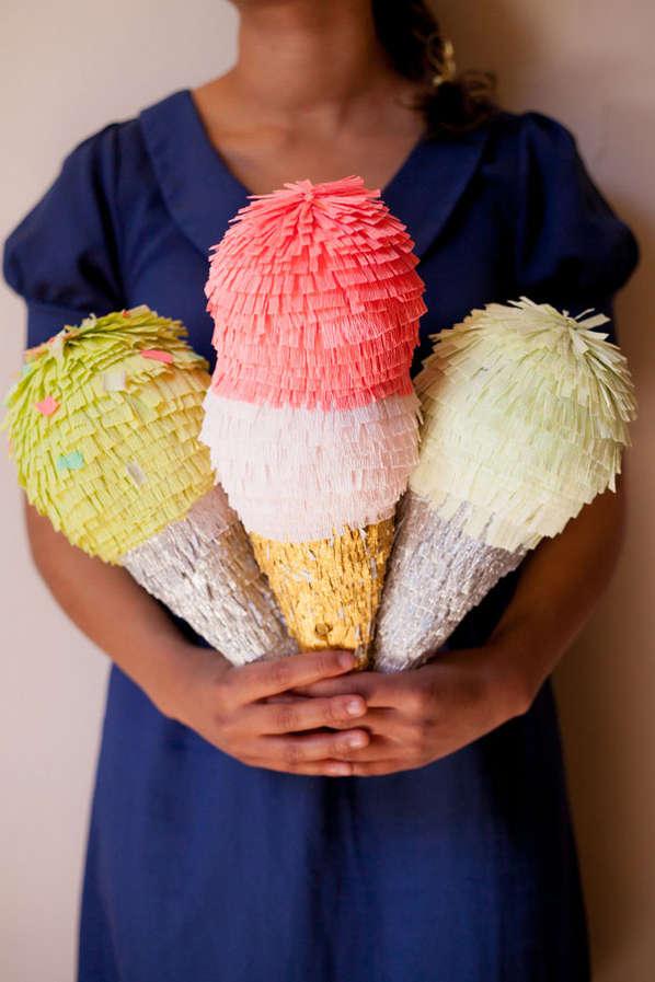 DIY Ice Cream Pinatas