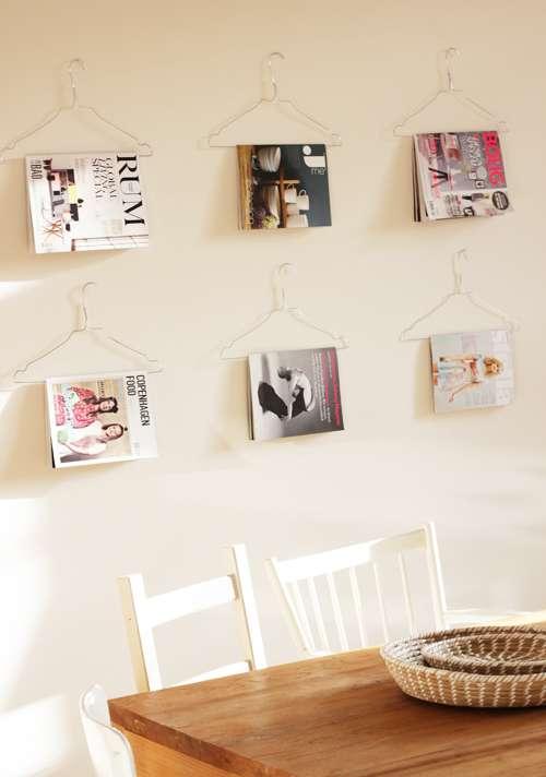 DIY Magazine Hangers
