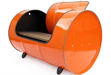 Oil Drum Furniture Francois Royer Creates A Rock Ing Chair Out Of Steel