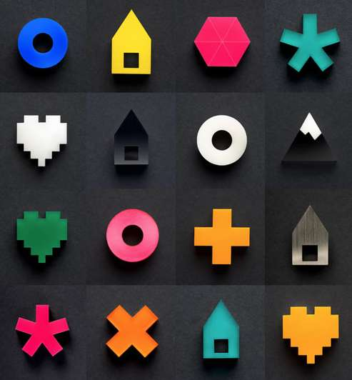 Decorative Pixelated Pins