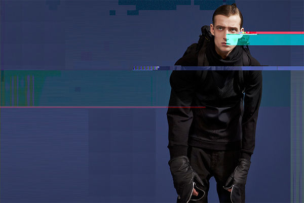 Glitchy Menswear Editorials