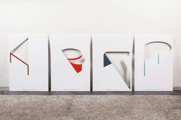 Abstract Furniture-Inspired Posters