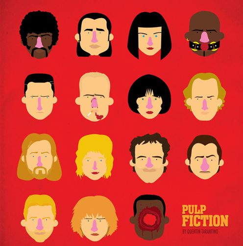 Cult Film Caricature Posters