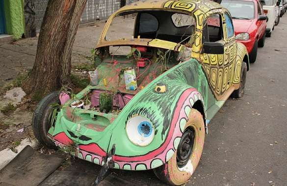 Abandoned Automobile Artwork