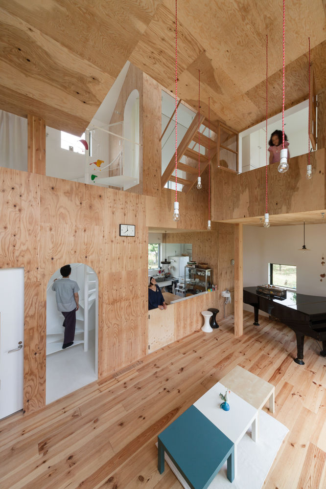 Playful Wooden Home Interiors
