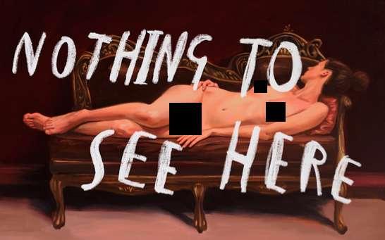 Censorship-Mocking Exhibits