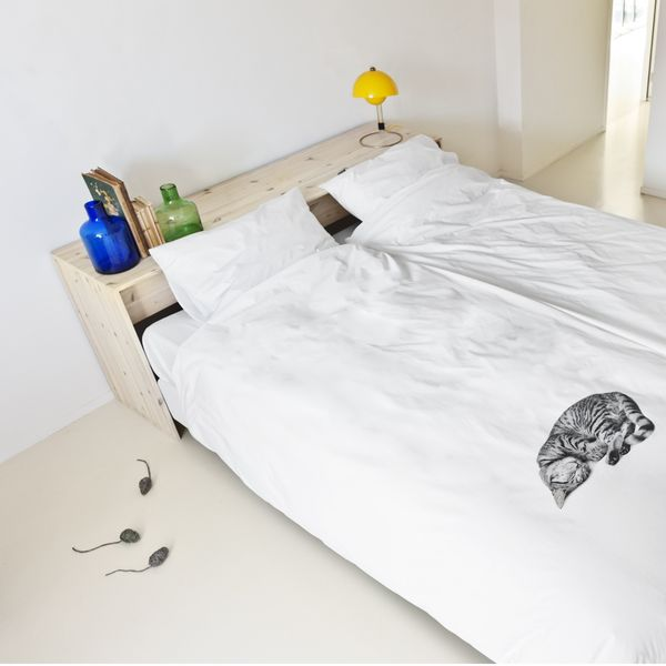 Sleeping kitten printed comforters ollie the cat duvet - Housse de couette orientale ...