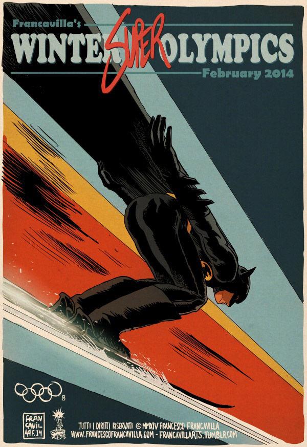 Superhero Olympian Art