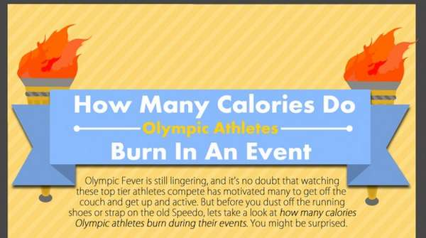 olympic athlete calorie infographic