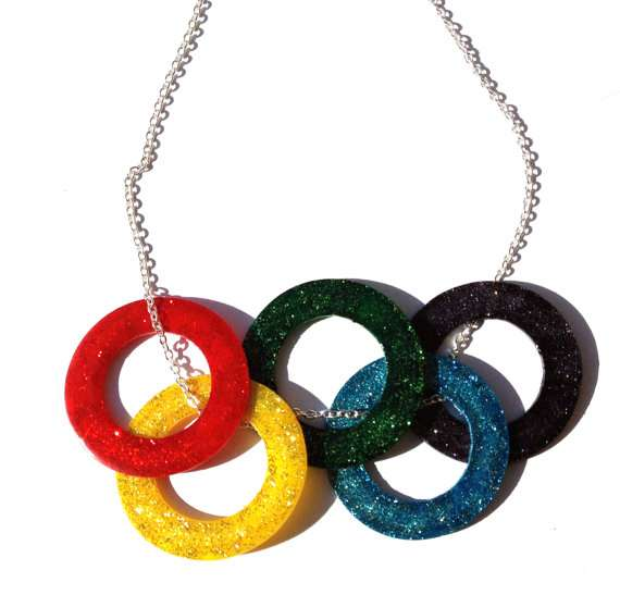 Olympic Rings Necklace by StarsNscars