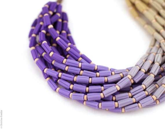 Ombre Necklace by Paciorky Art Studio