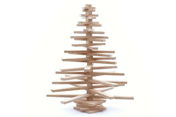 Ply-Wood Christmas Trees : Onetwotree