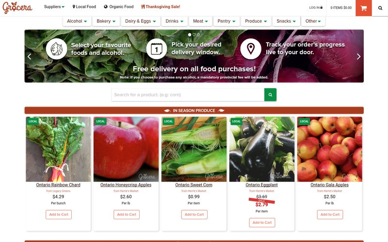 Locally-Focused Online Groceries