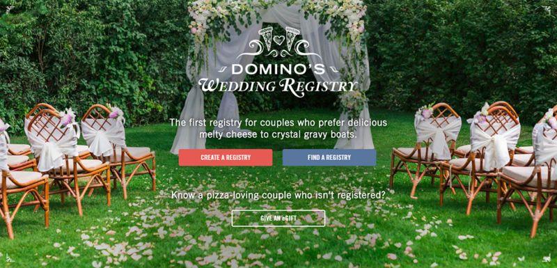 Pizza Chain Wedding Registries